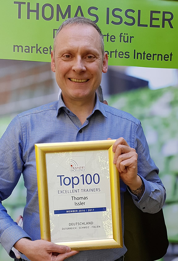 Thomas Issler ist als Top 100 Trainer bei Speakers Excellence dabei